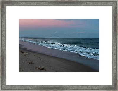 Lavallette Beach New Jersey New Year 2016  Framed Print by Terry DeLuco