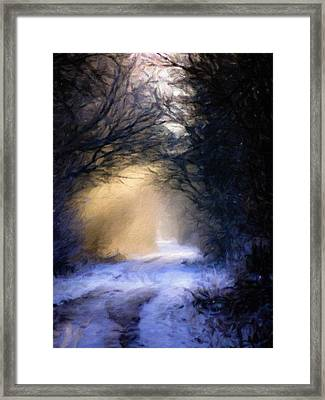 Lavander Snow  Framed Print