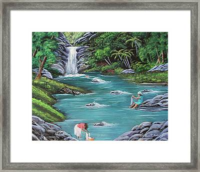 Lavando Ropa    Washing Clothes Framed Print