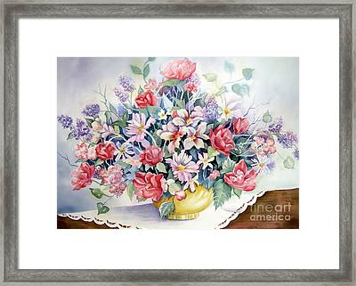 Lavendar And Lace Framed Print