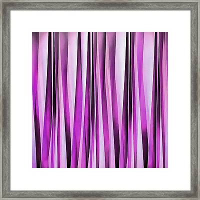 Lavender, Iris And Grape Stripy Pattern  Framed Print