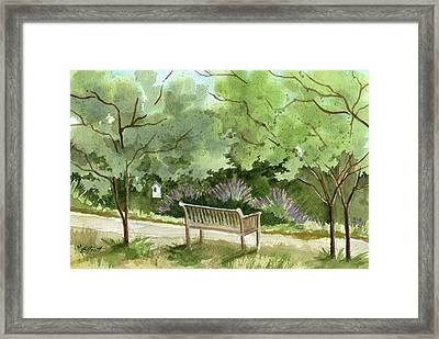 Lavendar Mounds Framed Print