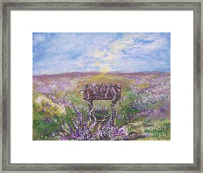 Framed Print featuring the painting Lavendar Wishes by Leslie Allen