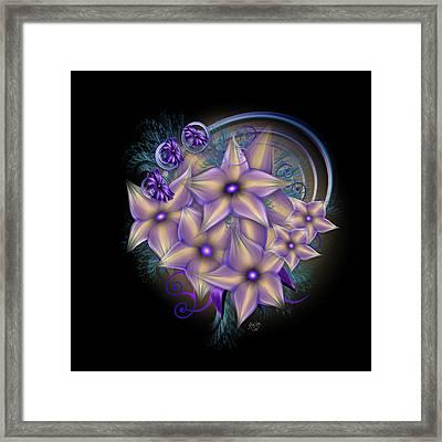 Lavender And Gold Framed Print