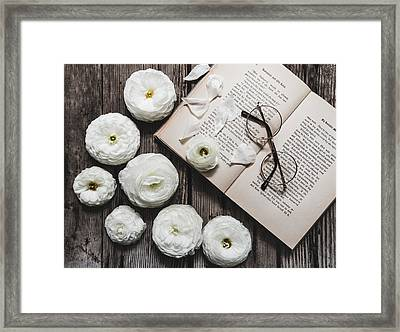 Framed Print featuring the photograph Lavender And Old Lace by Kim Hojnacki