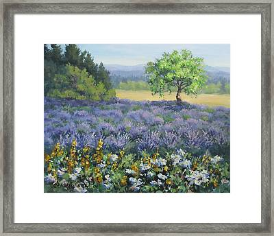 Lavender And Wildflowers Framed Print