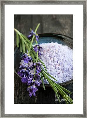 Lavender Bath Salts Framed Print