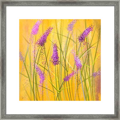 Lavender Beauties Framed Print by Lourry Legarde