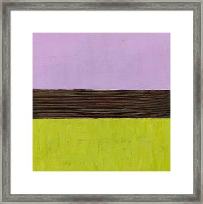 Lavender Brown Olive Framed Print by Michelle Calkins
