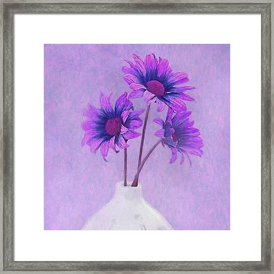 Lavender Chrysanthemum Still Life Framed Print