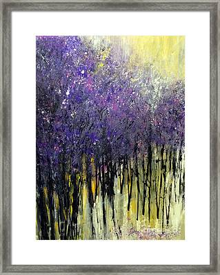 Framed Print featuring the painting Lavender Dreams by Priti Lathia