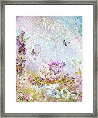 Framed Print featuring the mixed media Lavender Easter by Mo T