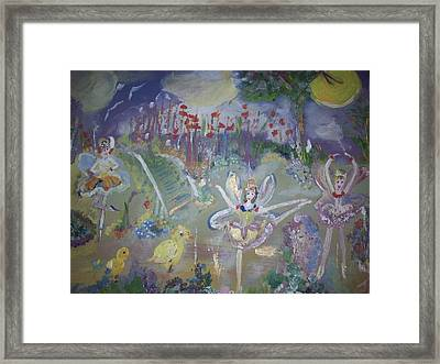 Framed Print featuring the painting Lavender Fairies by Judith Desrosiers
