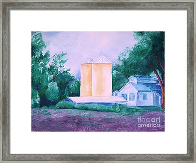 Framed Print featuring the painting Lavender Farm Albuquerque by Eric  Schiabor