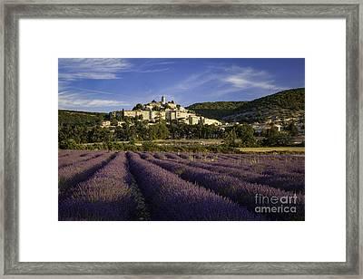 Lavender Field Below Banon Framed Print