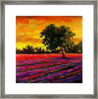 Framed Print featuring the painting Lavender Fire by Chris Brandley
