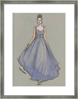 Lavender Gala Illustration Framed Print