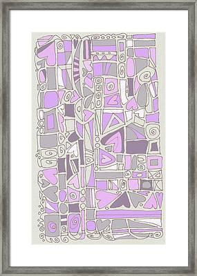 Lavender Hearts Framed Print by Linda Kay Thomas