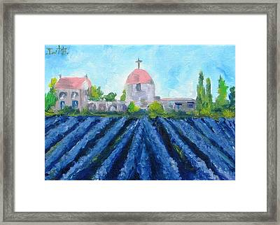Lavender In Provence Framed Print by Irit Bourla