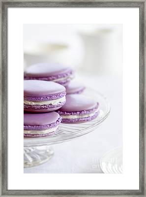 Lavender Macarons Framed Print by Ruth Black