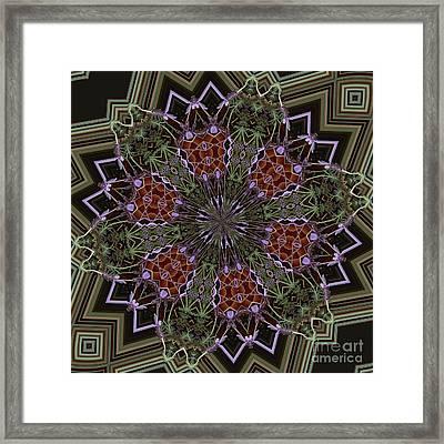 Lavender Mandala 1 Framed Print