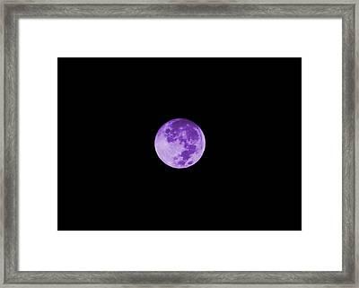 Lavender Moon Framed Print