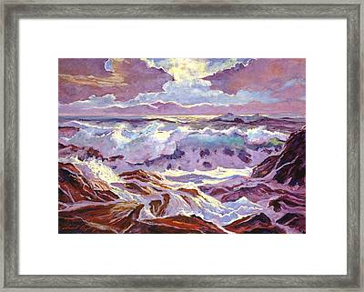 Lavender Ocean Framed Print by David Lloyd Glover