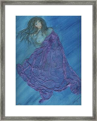 Lavender Passion Framed Print by Cathy Minerva