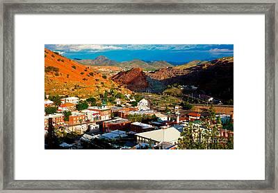 Lavender Pit In Historic Bisbee Arizona  Framed Print