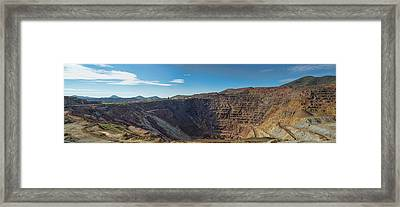 Framed Print featuring the photograph Lavender Pit Mine by Dan McManus