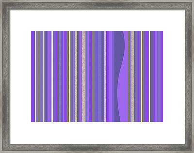 Framed Print featuring the digital art Lavender Random Stripe Abstract by Val Arie