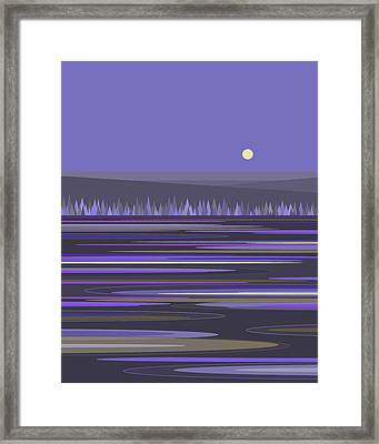 Framed Print featuring the digital art Lavender Reflections by Val Arie