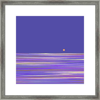 Framed Print featuring the digital art Lavender Sea by Val Arie