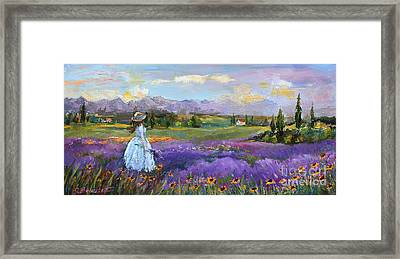 Framed Print featuring the painting Lavender Splendor  by Jennifer Beaudet