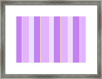 Framed Print featuring the mixed media Lavender Stripe Pattern by Christina Rollo