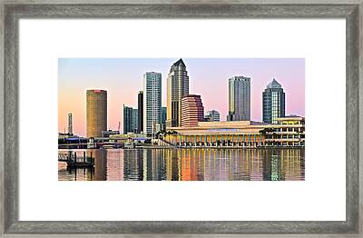 Lavender Tampa Skyline Framed Print by Frozen in Time Fine Art Photography