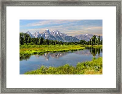 Lavender Teton Peaks  Framed Print