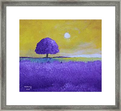 Lavender Tree Framed Print