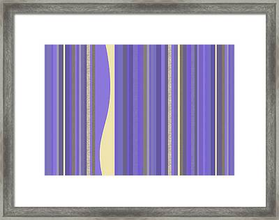 Framed Print featuring the digital art Lavender Twilight - Stripes by Val Arie