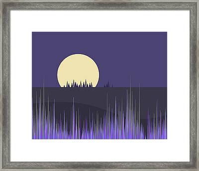 Framed Print featuring the digital art Lavender Twilight by Val Arie