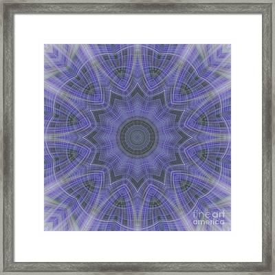 Lavender Twirl Kaleido Framed Print