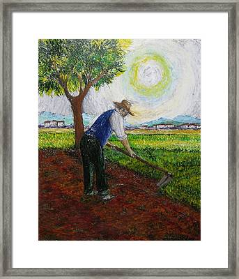 Lavoro Sui Campi Framed Print by  Luca Corona