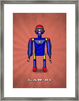 Law 01 Robot Framed Print by Mark Rogan