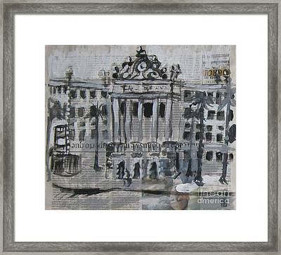 Law Faculty Sao Francisco Square  Sao Paulo Framed Print by James McCormack