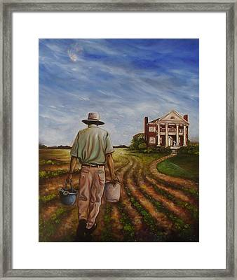 Framed Print featuring the painting Law Of Attraction II by Emery Franklin