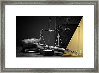 Law Office And Judge Collection Framed Print by Marvin Blaine