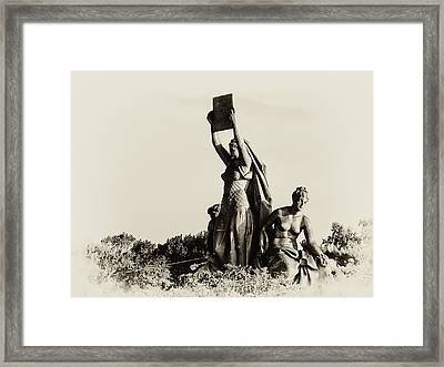 Law Prosperity And Power In Black And White Framed Print by Bill Cannon