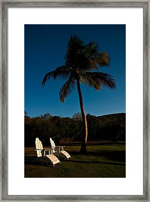 Lawn Chairs Framed Print by Harry Spitz