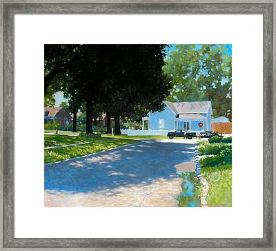 Lawn Man Framed Print by Kevin Lawrence Leveque