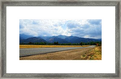 Lawson Road - Corona Framed Print by Glenn McCarthy